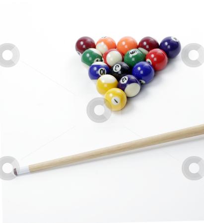 Billiard Balls stock photo, A racked set of billiard balls ready to be broken by Matt Baker