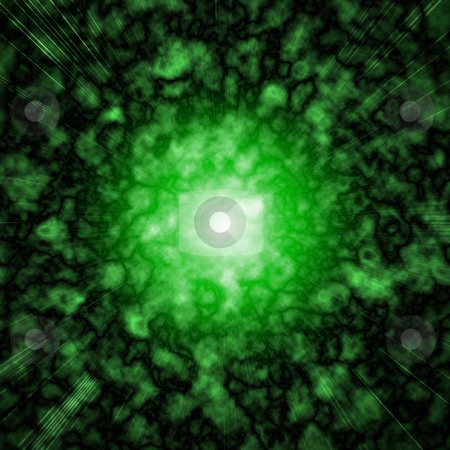 Super Nova stock photo, A green super nove by Matt Baker