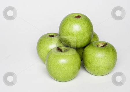 Pile of apples stock photo, A pile of apples sit ready for eating by Matt Baker