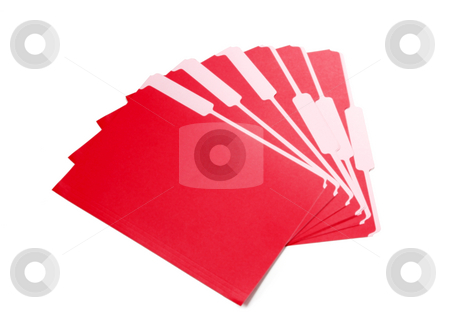 File folders stock photo, A stack of red file folders by Matt Baker