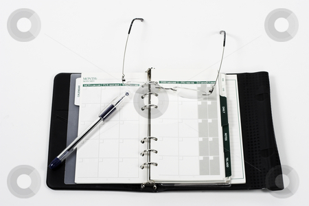 Open planner stock photo, A daily planner sits ready for entries by Matt Baker