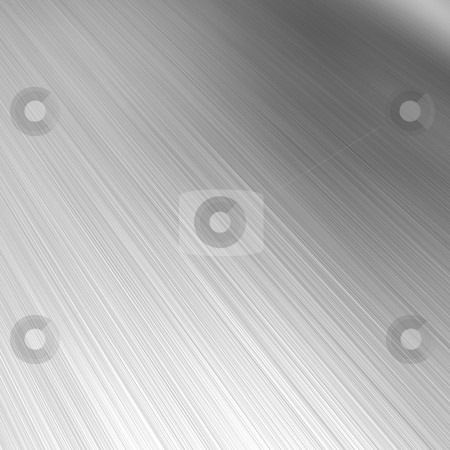 Brushed Aluminum stock photo, A brushed aluminum background or texture with reflective highlights. by Todd Arena