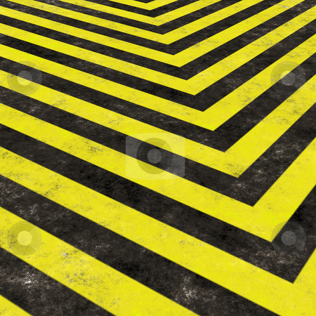 Construction Hazard Stripes stock photo, Hazard stripes texture that tiles seamlessly as a pattern in any direction. by Todd Arena