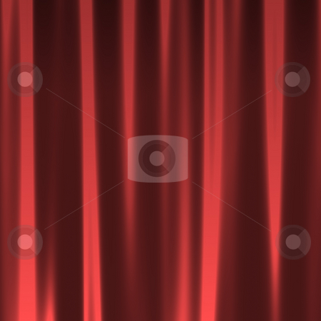 Red Curtain Seamless Pattern stock photo, A red background texture that looks like a silky fabric or curtain. This tiles seamlessly as a pattern. by Todd Arena