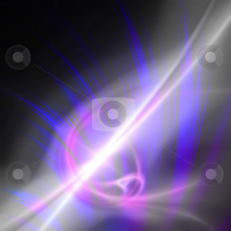 Glowing Plasma Fractal stock photo, This purple abstract design works as a powerful background or art element in any design. by Todd Arena
