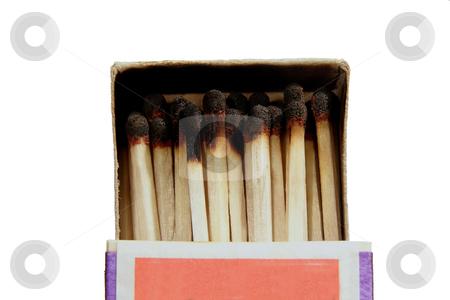 Accident stock photo, Box of burned matches by Sergej Razvodovskij