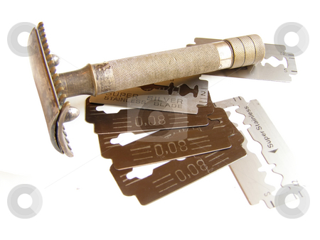 Razor & Blades stock photo, Old shaving tools by Sergej Razvodovskij
