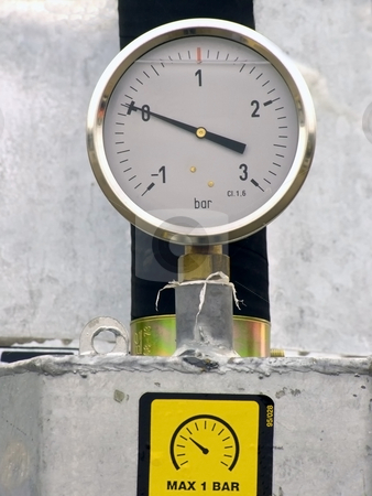Pressure gauge stock photo, Pressure gauge by Sergej Razvodovskij