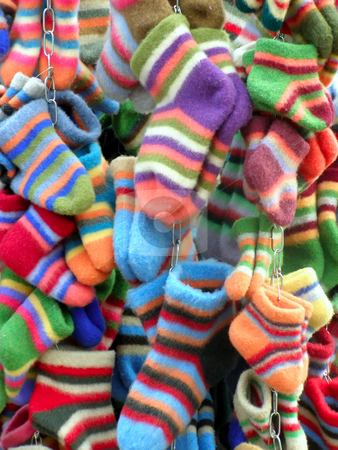 colored socks stock photo, A lot of colored socks by Sergej Razvodovskij