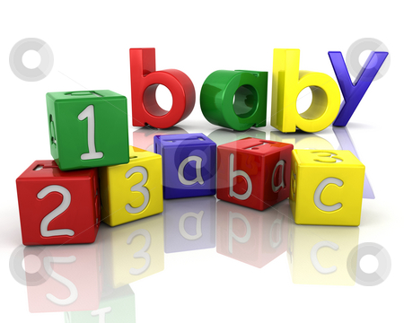 Baby building blocks stock photo, Building blocks for babies by Kirsty Pargeter