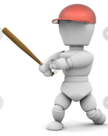 Baseball player stock photo, Someone playing baseball by Kirsty Pargeter