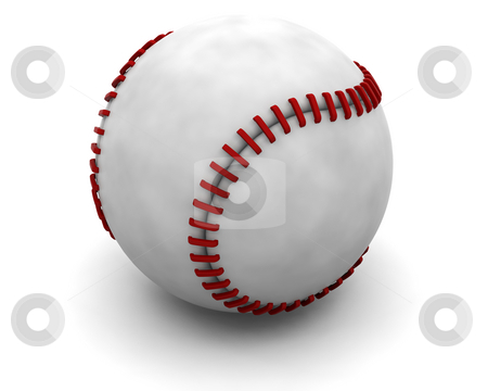Baseball stock photo, Closeup of a baseball by Kirsty Pargeter