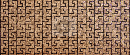 Close-up of leather surface stock photo, Macro image of leather to be used for background or pattern by Steven Heap