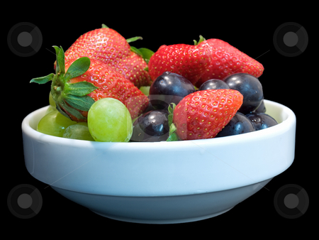 Ripe fruits stock photo, Some fruits isolated on a black background. by Sinisa Botas