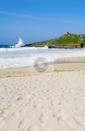 Atlantic sea breaks on Porthmeor beach in St. Ives, Cornwall UK. stock photo, Atlantic sea breaks on Porthmeor beach in St. Ives, Cornwall UK. by Stephen Rees