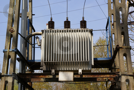Transformer stock photo, Small electrical transformer used in small villages by Jolanta Dabrowska