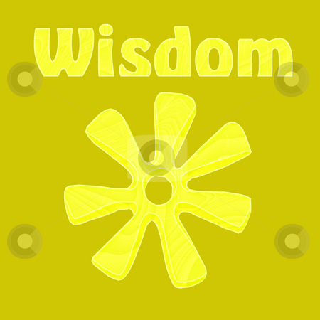 African Wisdom Symbol stock photo, Wisdom illustrated by the African symbol of ananse ntontan in yellow - a raster illustration. by Karen Carter