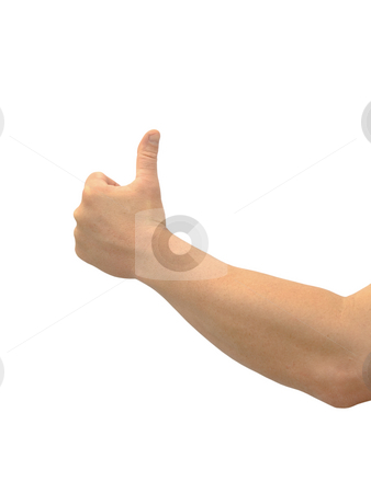 Thumbs up stock photo, Thumbs up on a white background by John Teeter