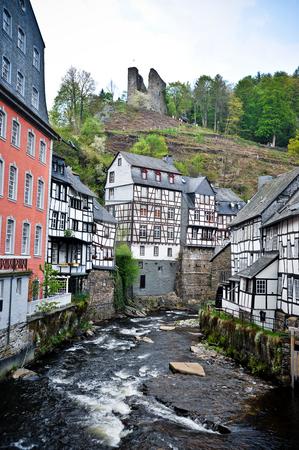 Monschau Germany stock photo, Houses and river in Monschau Germany by Jaime Pharr
