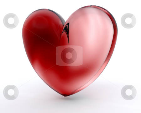 Glass heart stock photo, 3D render of a glass heart by Kirsty Pargeter