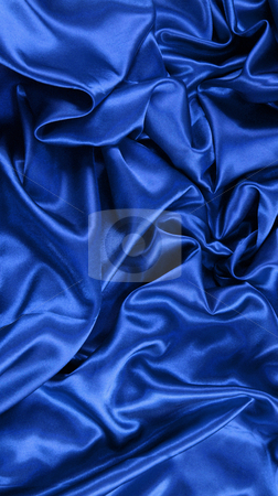 Blue satin stock photo, Background of blue satin by Kirsty Pargeter