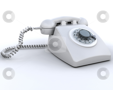 Retro phone stock photo, 3D render of a retro telephone by Kirsty Pargeter