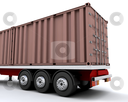 Freight container stock photo, Freight container on back of truck by Kirsty Pargeter