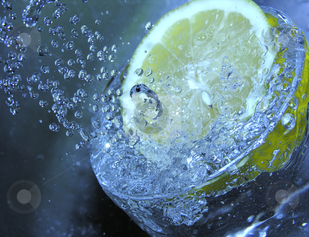 Lemon in Water stock photo,  by Kirsty Pargeter
