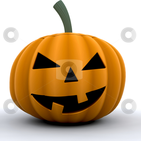 Pumpkin stock photo, 3D render of a scary pumpkin by Kirsty Pargeter