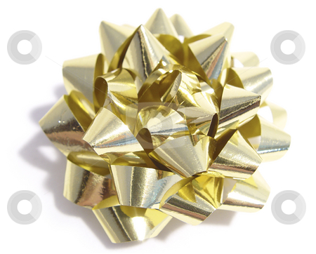 Golden bow stock photo,  by Kirsty Pargeter