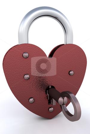 Heart padlock stock photo, Heart shaped padlock by Kirsty Pargeter