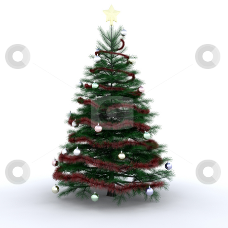 Christmas tree stock photo, Decorated Christmas tree by Kirsty Pargeter