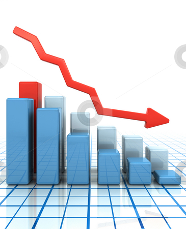 Falling profits stock photo, Bar chart showing falling profits by Kirsty Pargeter