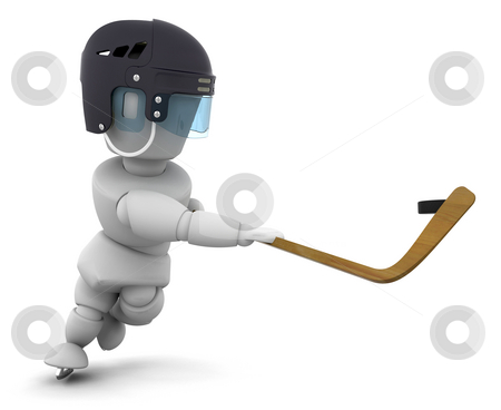 Ice hockey stock photo, Someone playing ice-hockey by Kirsty Pargeter