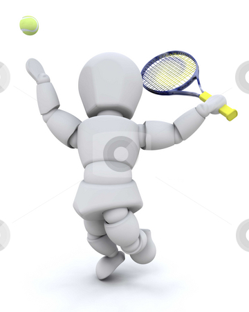 Tennis player stock photo, Someone playing tennis by Kirsty Pargeter