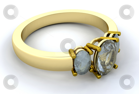 Engagment ring stock photo, Close up of a gold engagement ring by Kirsty Pargeter