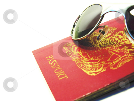 Passport and glasses stock photo,  by Kirsty Pargeter