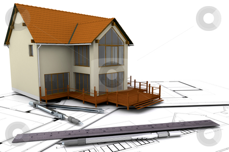 Under construction stock photo, Modern house under construction by Kirsty Pargeter