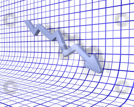 Falling profits stock photo, 3D render of a chart showing falling profits by Kirsty Pargeter