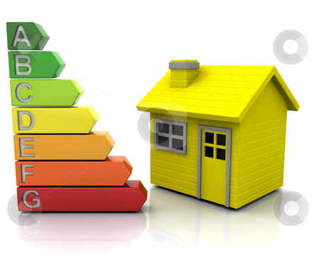 Energy ratings stock photo, House with energy ratings by Kirsty Pargeter