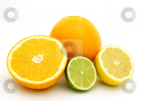 Citrus fruits stock photo, Lemon, lime and oranges by Kirsty Pargeter