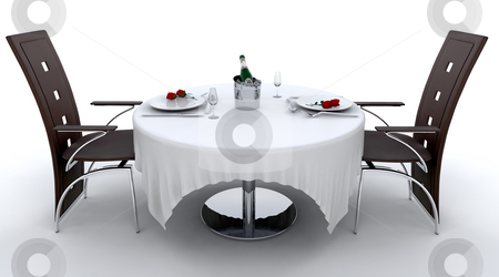 Romantic dinner stock photo, Romantic dinner setting for two by Kirsty Pargeter