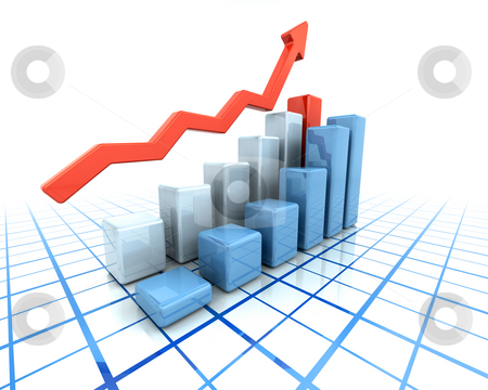 Rising profits stock photo, Chart showing rising profits by Kirsty Pargeter