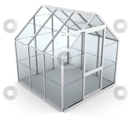Greenhouse stock photo, 3D render of a greenhouse by Kirsty Pargeter