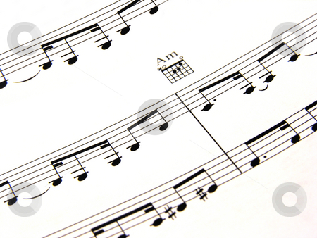 Musical Notes stock photo,  by Kirsty Pargeter