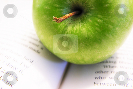 Apple on Book stock photo,  by Kirsty Pargeter