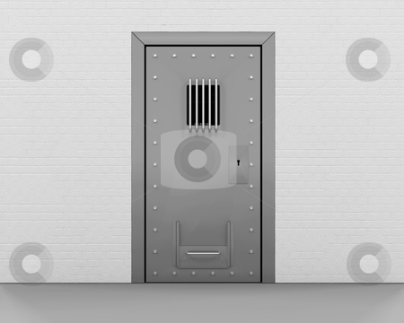 Prison door stock photo, 3D render of a prison door by Kirsty Pargeter