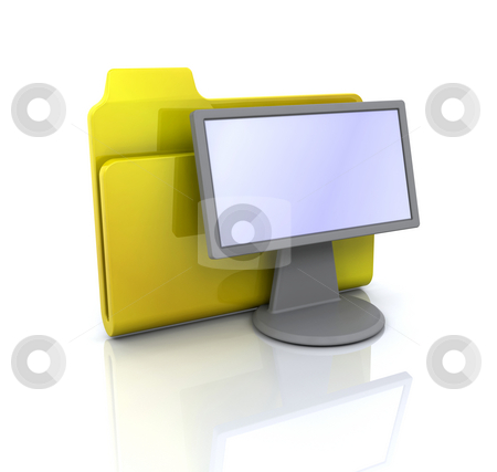 Display folder icon stock photo, 3D icon for display folder by Kirsty Pargeter