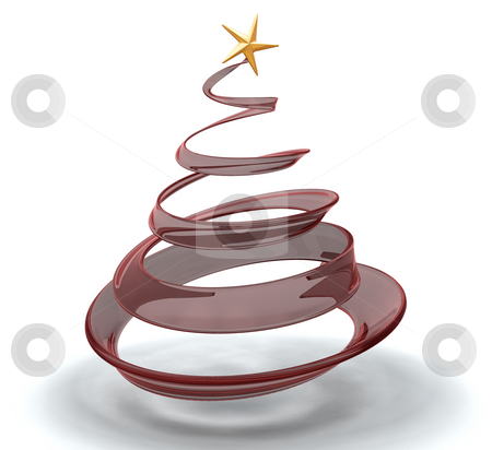 Christmas tree stock photo, 3D render of a glass style Christmas tree by Kirsty Pargeter