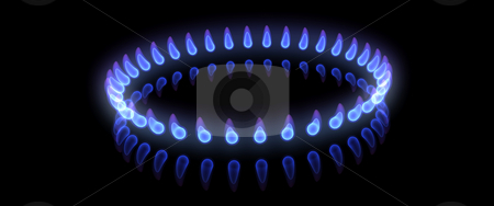 Flames stock photo, 3D render of a ring of flames by Kirsty Pargeter